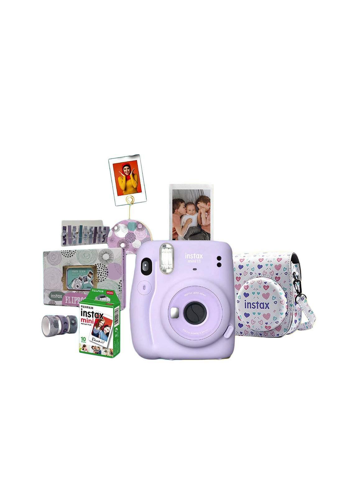 Fujifilm Instax ValuePack Mini11 Camera Package - Purple كاميرا فورية