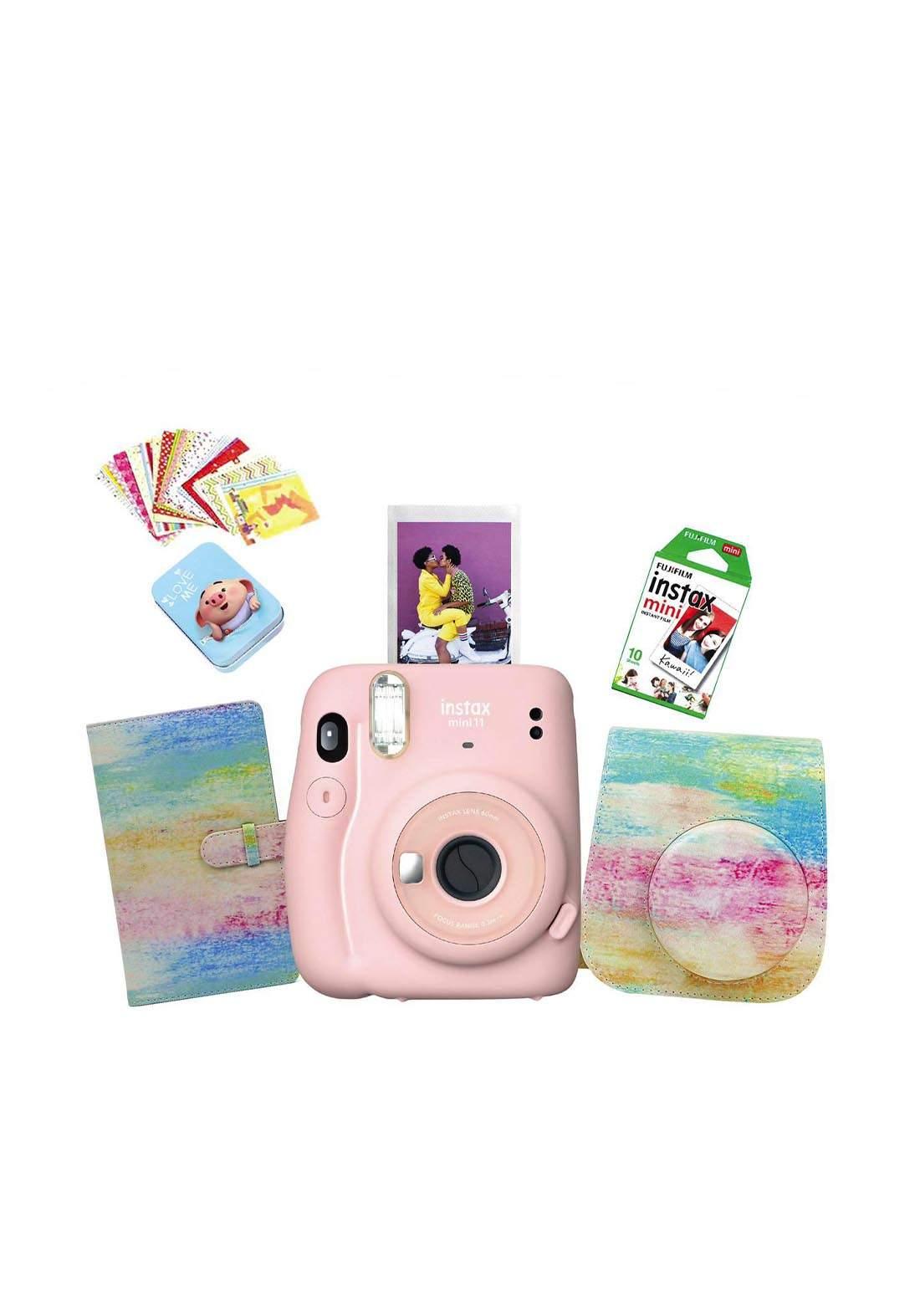 Fujifilm Instax LifeStyle Pack Mini11 Camera Package - Pink كاميرا فورية
