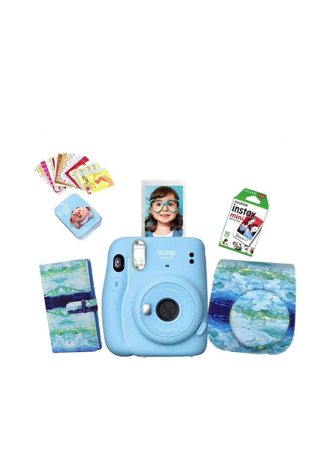 Fujifilm Instax LifeStyle Pack Mini11 Camera Package - Blue كاميرا فورية