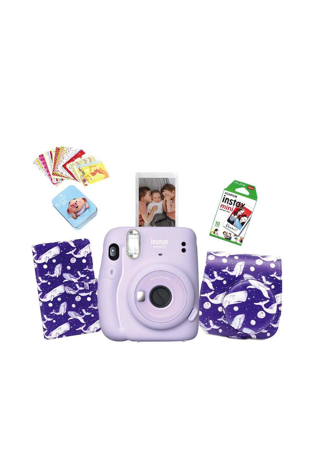 Fujifilm Instax LifeStyle Pack Mini11 Camera Package - Purple كاميرا فورية