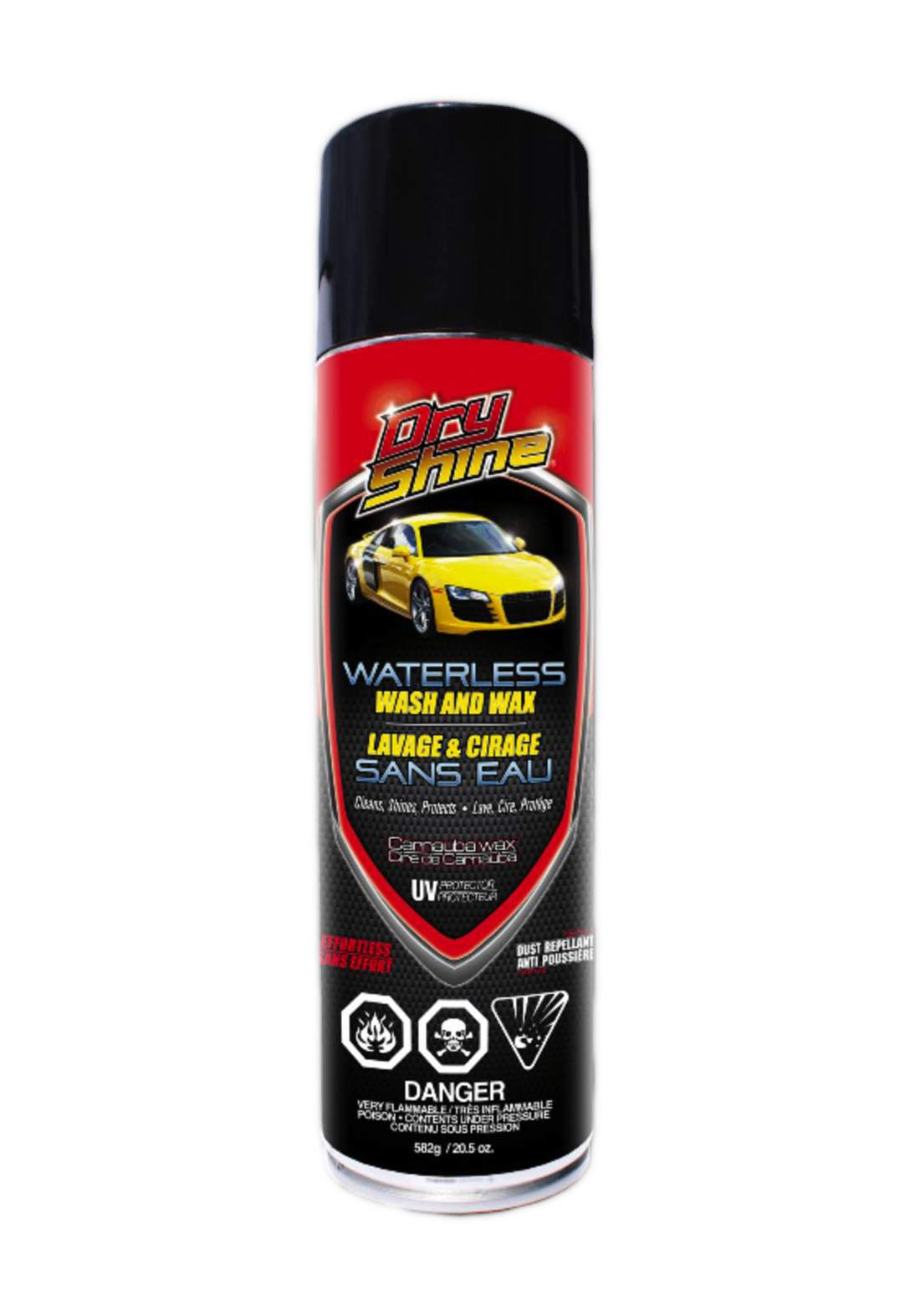 Dry Shine Waterless Car Wash & Wax 582 g  منظف شمع وغسيل جاف للسيارة بدون ماء