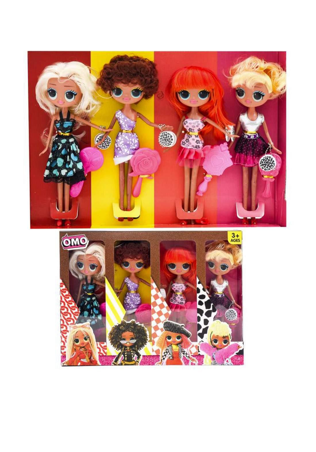 Omo LK 1009-3 Toys Set 4 Pcs سيت دمى الازياء للاطفال