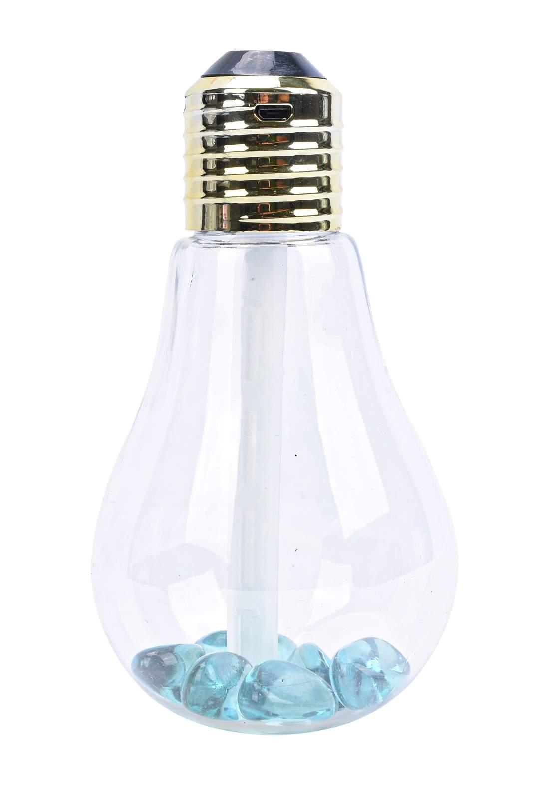 Air Humidifier, Bulb Shape, Night Light, With Spray 400 ml جهاز مرطب للجو