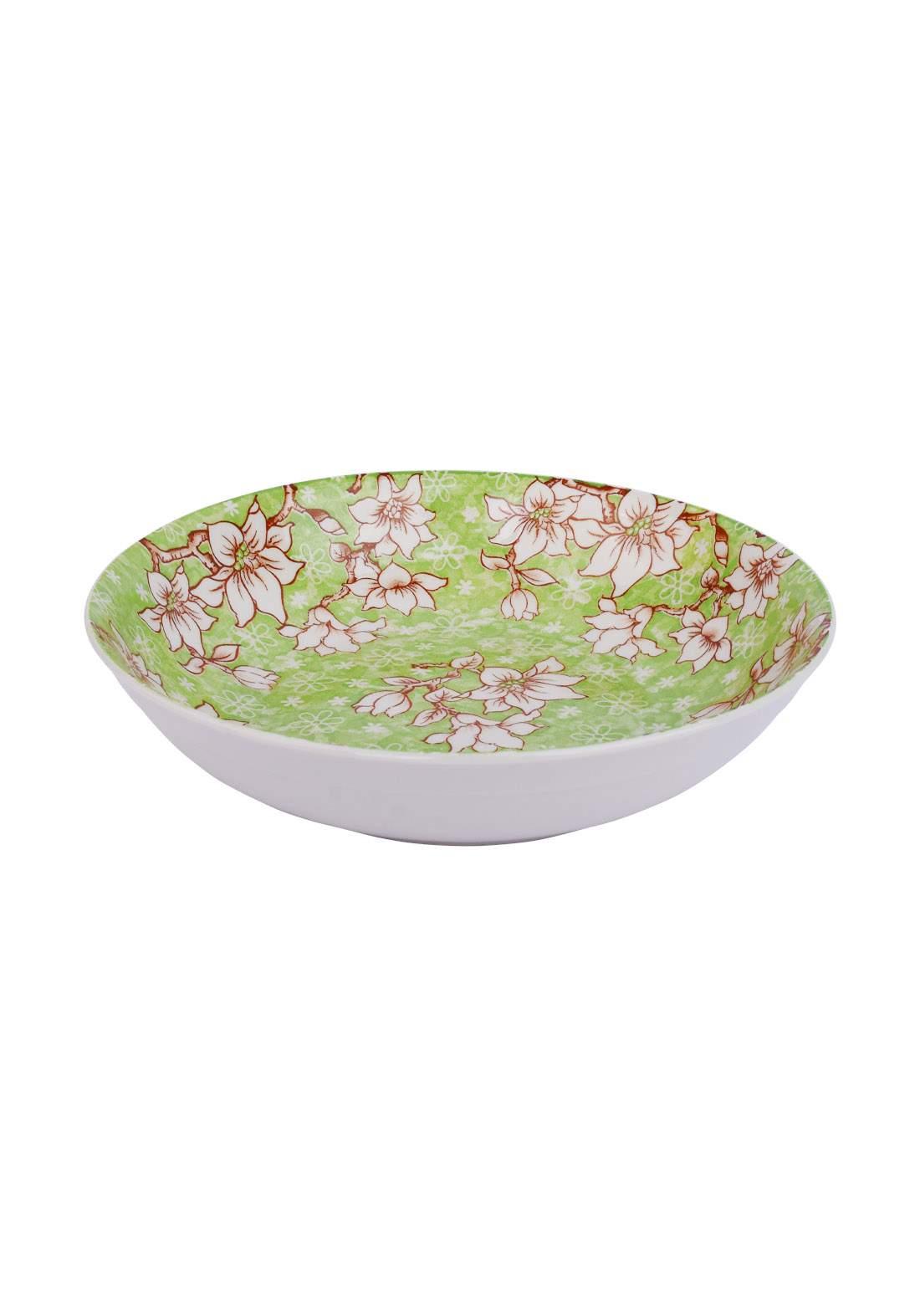 وعاء سيراميك قطعة واحدة اخضر اللون