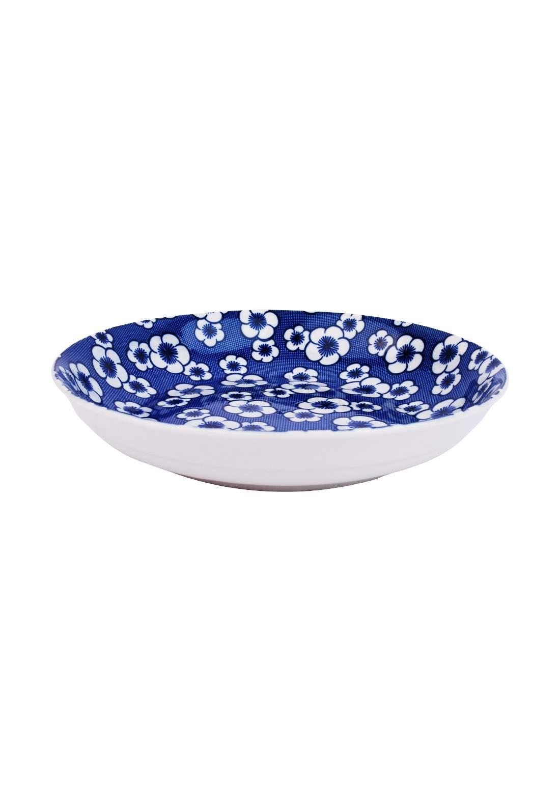 وعاء سيراميك قطعة واحدة ازرق اللون