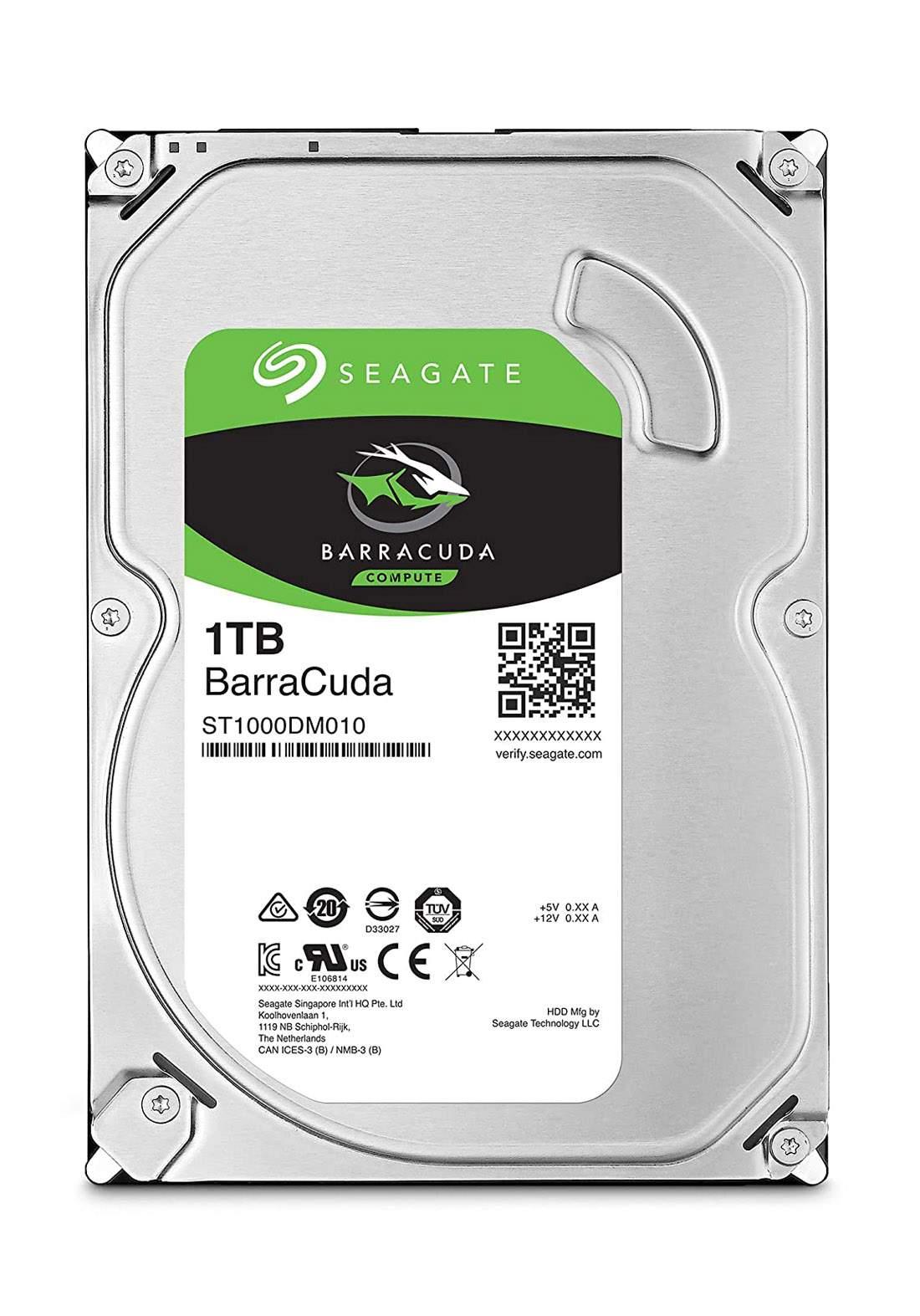 Seagate BarraCuda 1 TB Internal Hard Drive - Silver  هارد داخلي