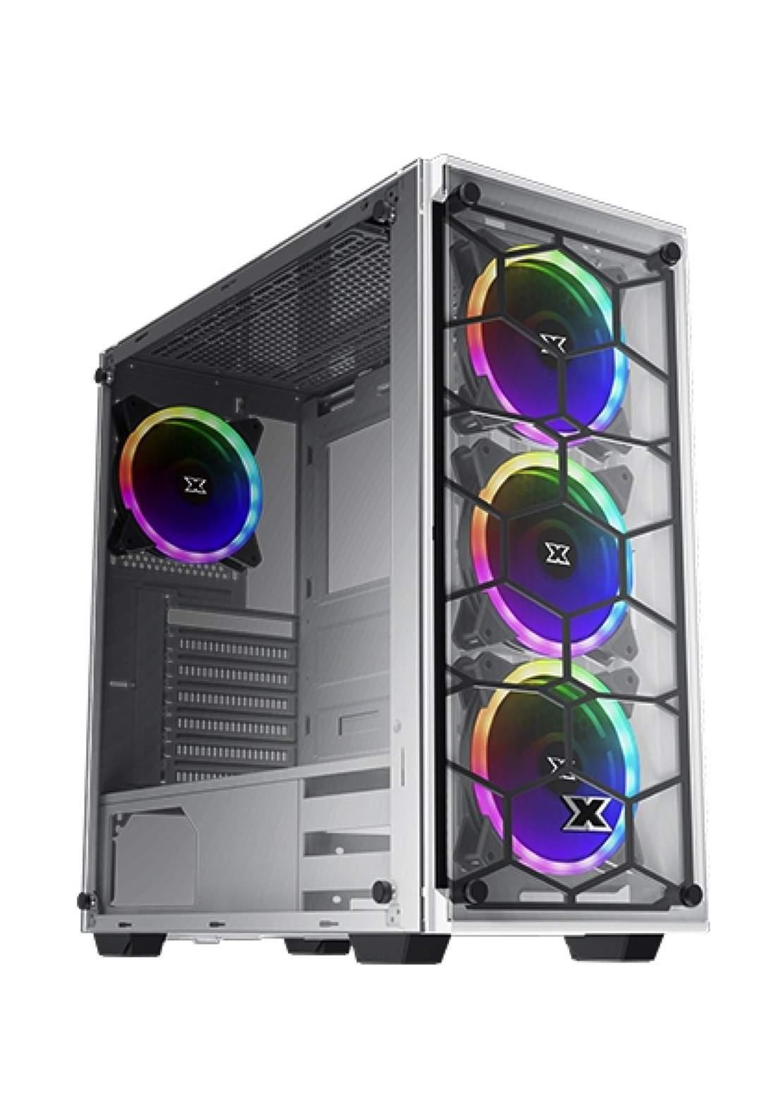 Xigmatek Venom X Arctic Gaming Mid Tower Case - White