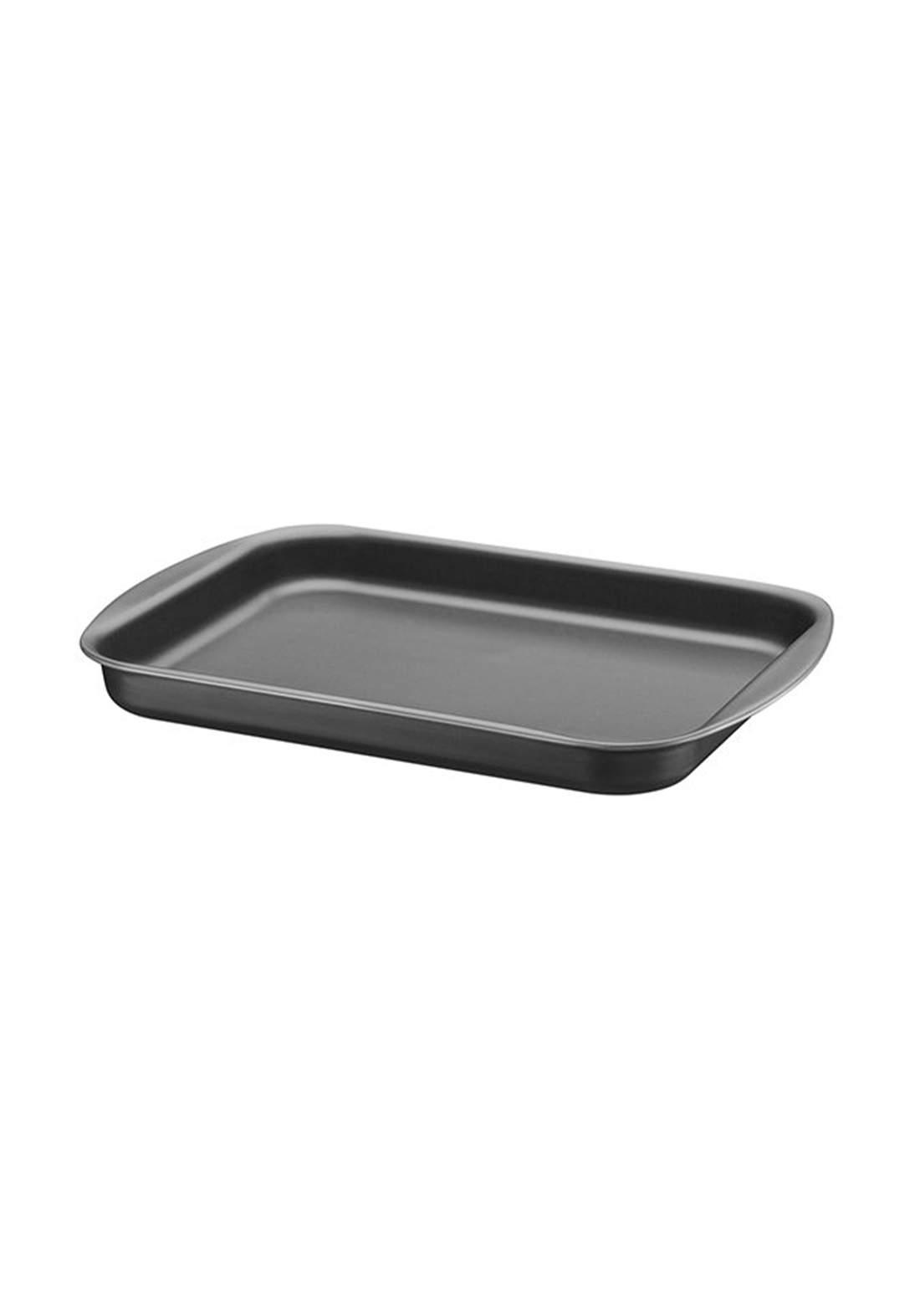 Tramontina '20053-034 Aluminum Flat Baking Tray 34 cm Black تبسي منخفض العمق
