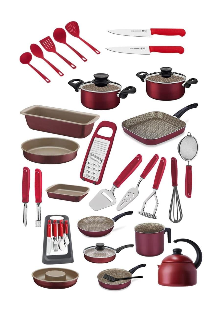 مجموعة اواني طبخ متكاملة 24 قطعة