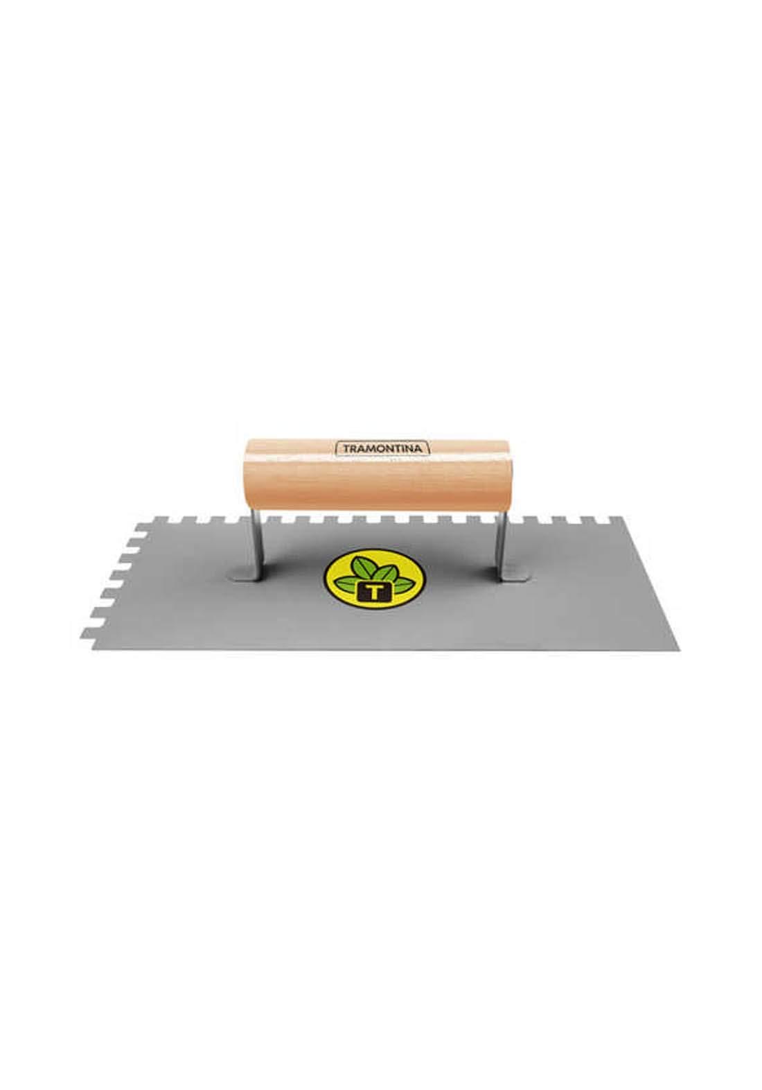 Tramontina'77376/115Brazilian serrated trowel with wood handle مالج مسنن مع مقبض خشب