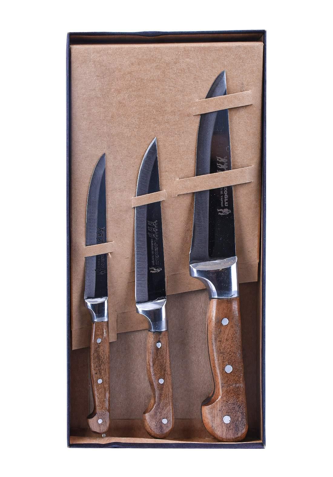 سيت سكاكين 3 قطع