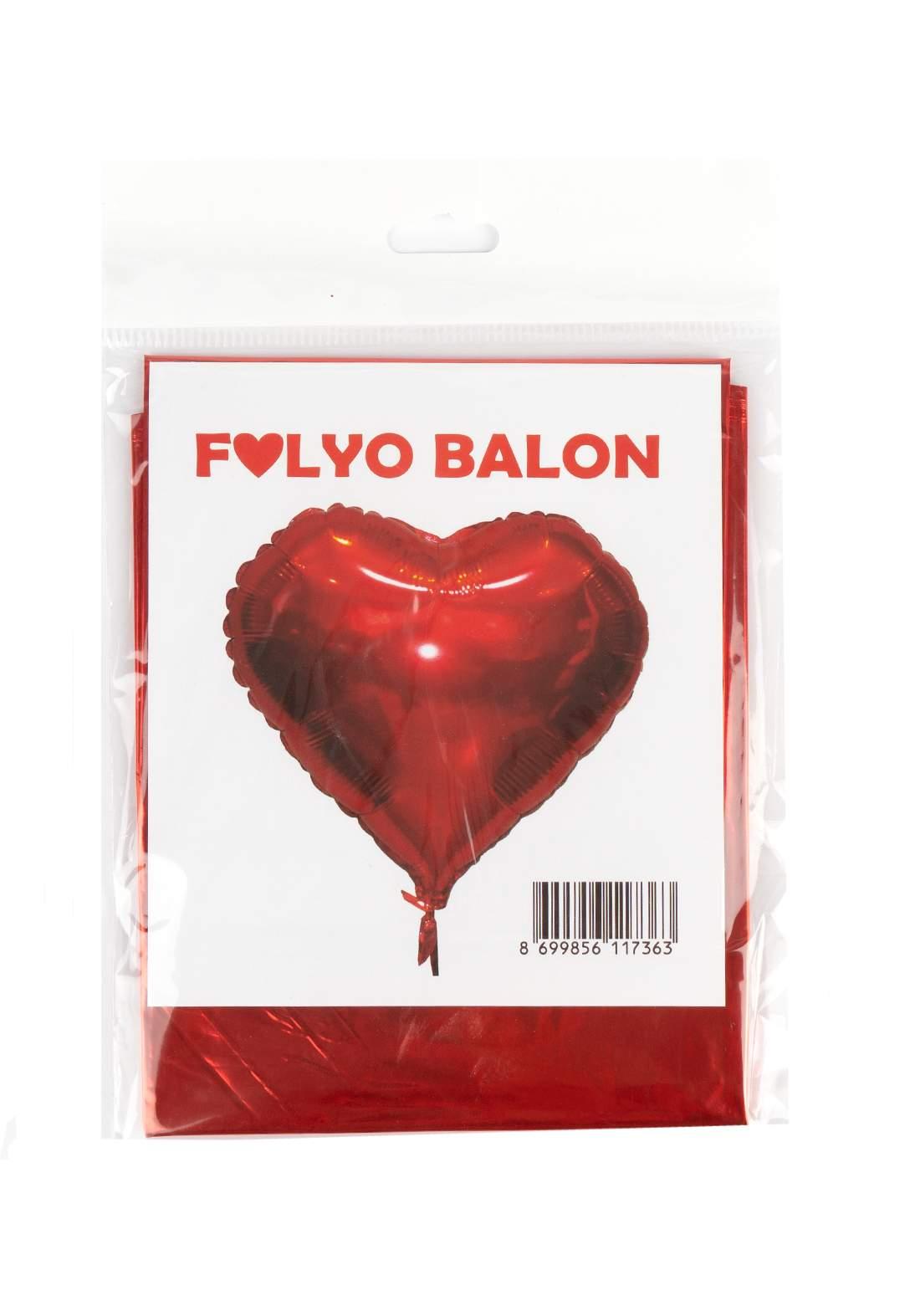 بالون على شكل قلب احمر اللون