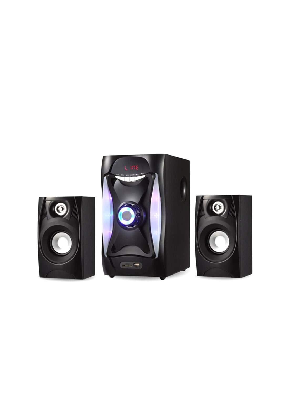 Multimedia Bluetooth Speaker E-112 - Black سبيكر