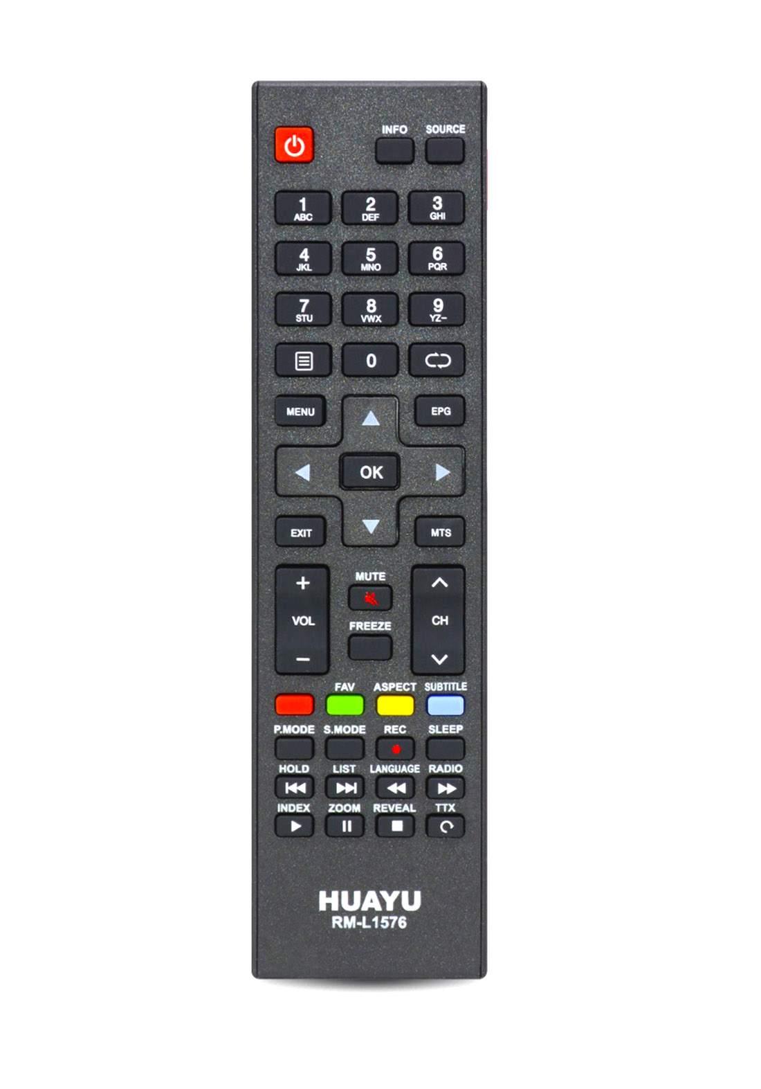 HUAYU Remote Control For Daewoo TV  - Black جهاز التحكم عن بعد