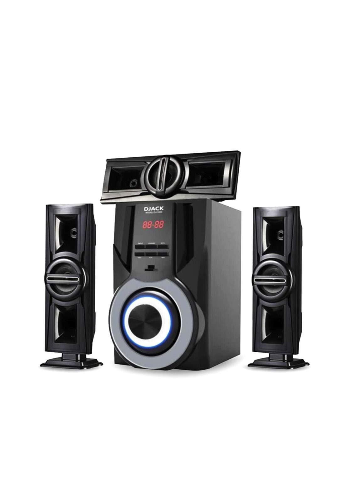 Djack E-1003 Bluetooth Home Speakers System - Black سبيكر