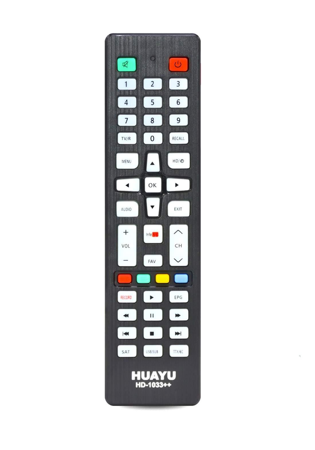HUAYU Remote Control For HD,SAT TV - Black جهاز التحكم عن بعد