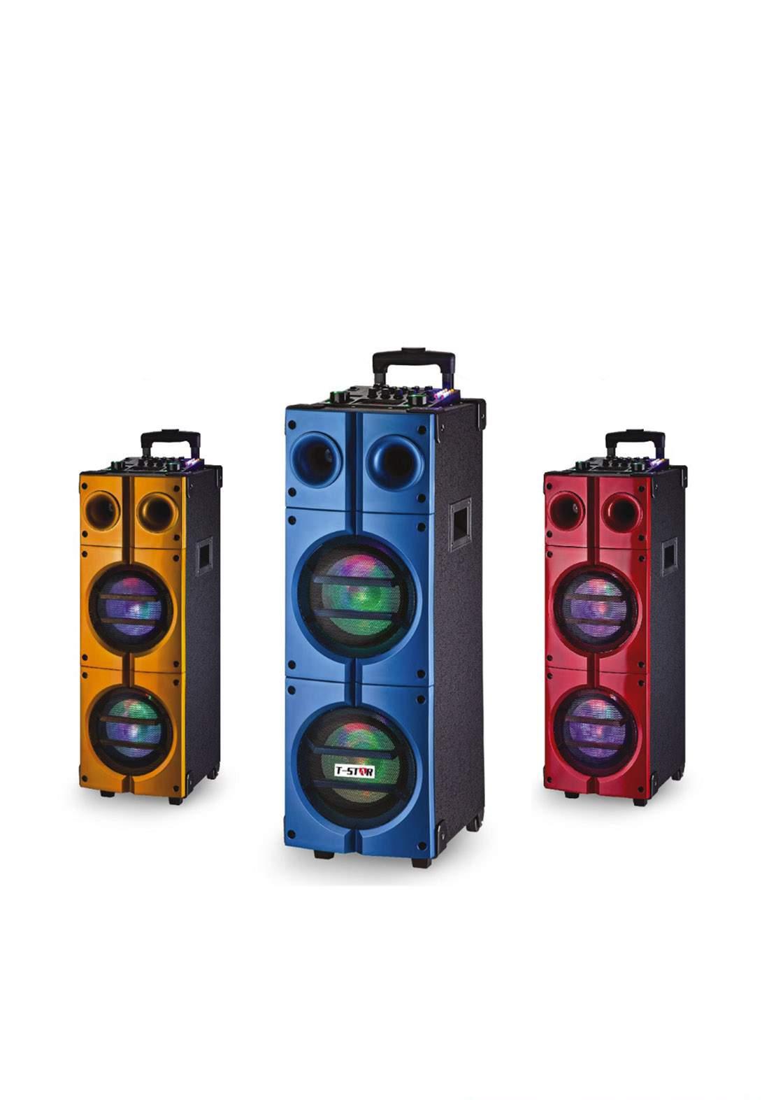 T-Star T-888A Dual 8 Wireless Rolling DJ PA Speaker سبيكر