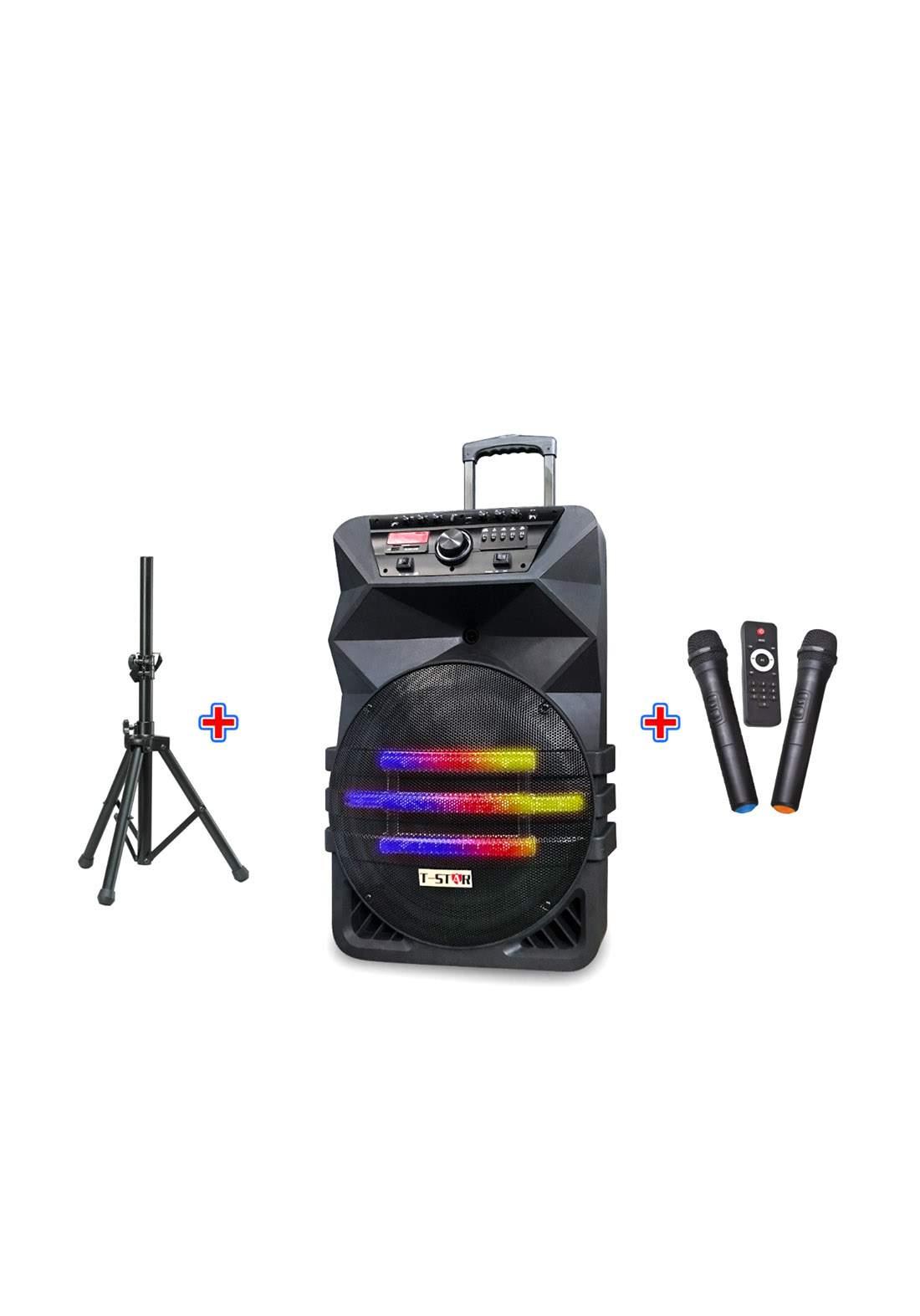 FM USB BT Wireless Speaker - Black (T-107A) سبيكر