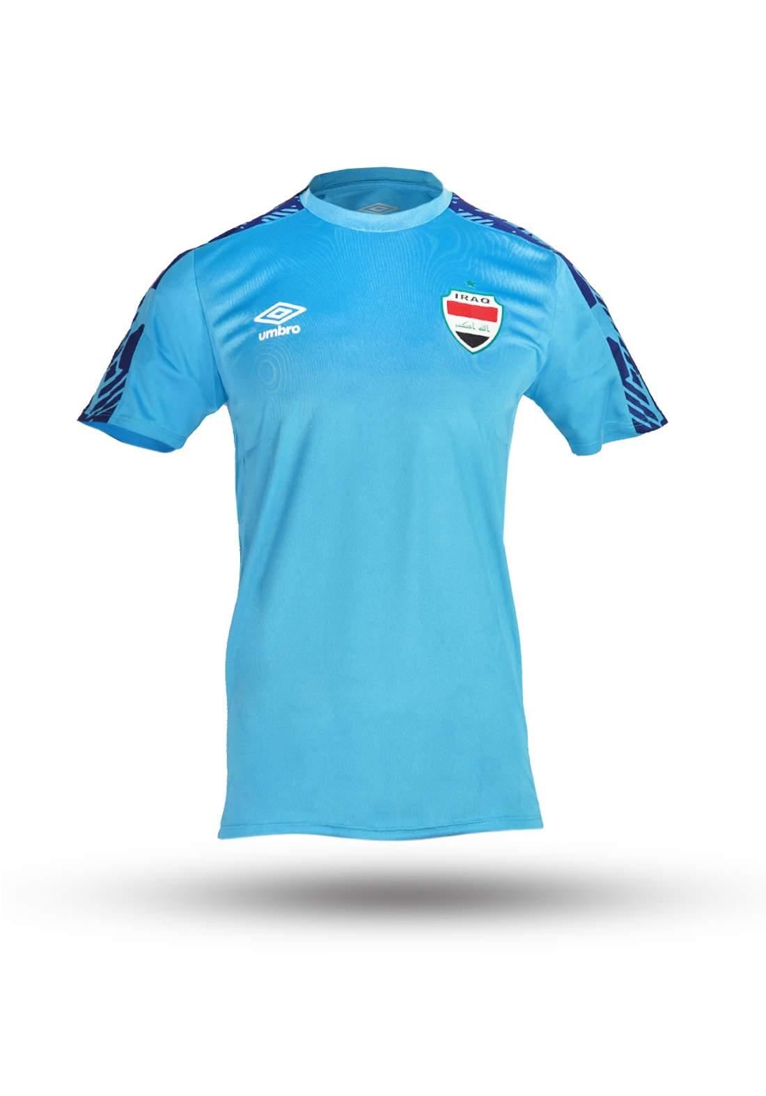 دريس رياضي رجالي منتخب العراق سمائي اللون من  umbro