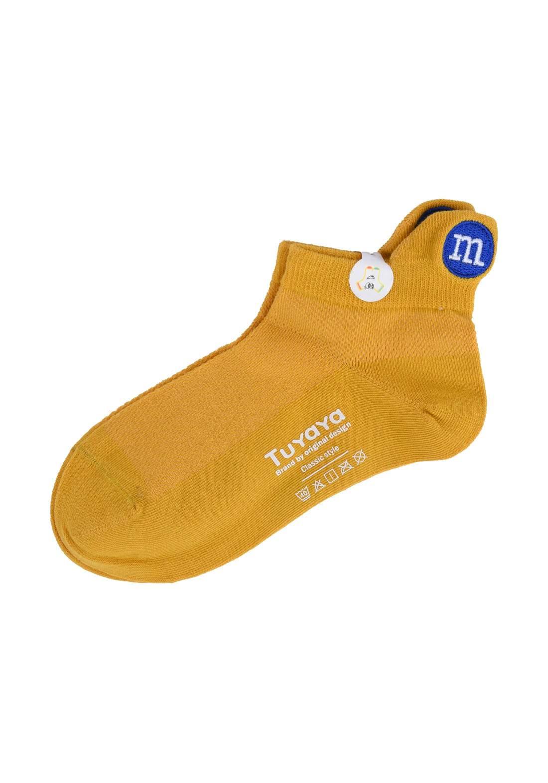 Tuyaya جوراب اطفال اصفر اللون من