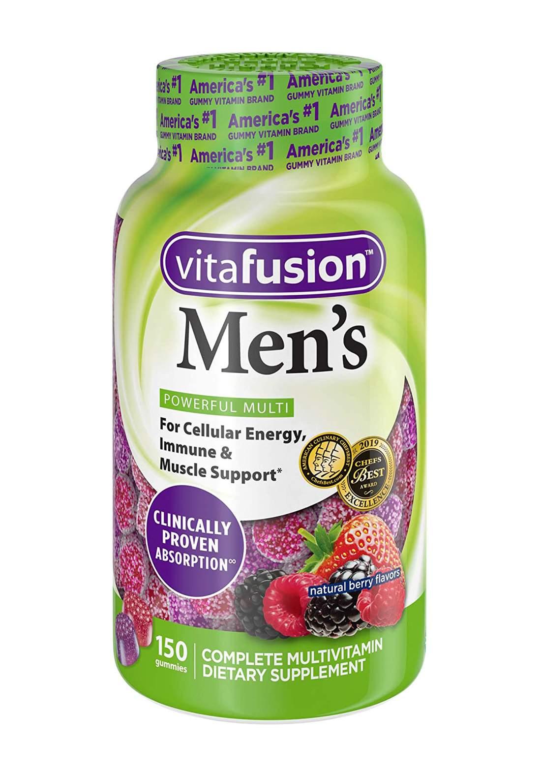 Vitafusion Men's Multivitamin Dietary Supplement 150 Gummies مكمل غذائي