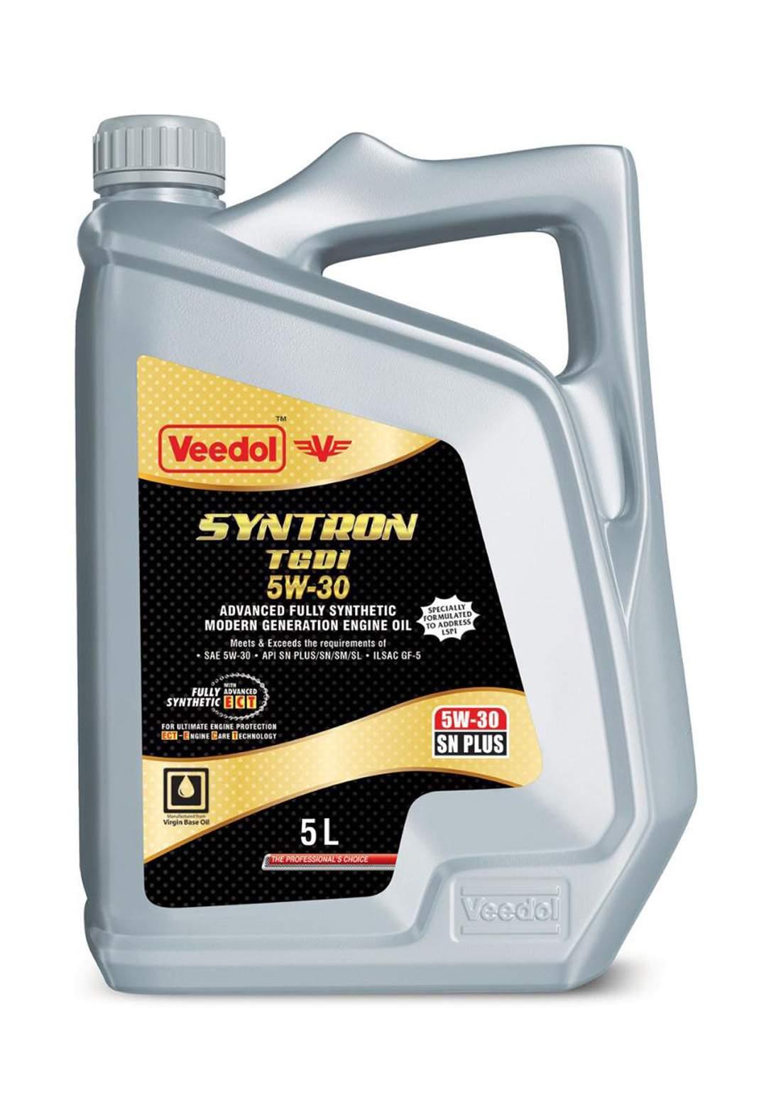 Veedol Syntron 73116U29P00 5W30 Engine Oil SN+ -GF-5 5 L زيت محرك السيارة
