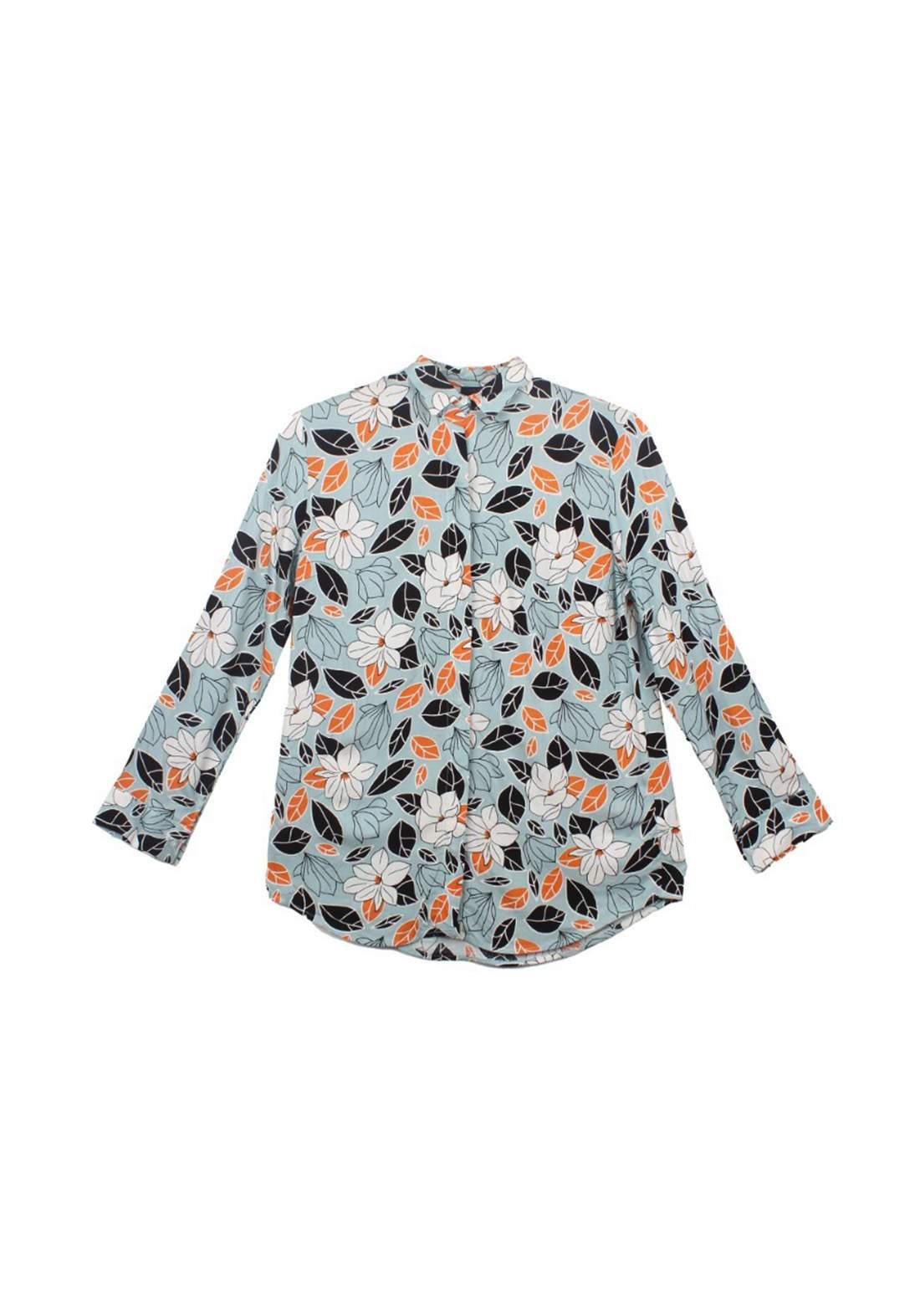 قميص نسائي متعدد أللون