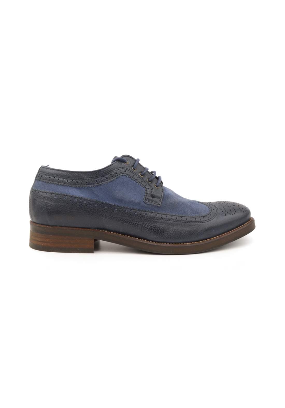 حذاء رجالي اسود وازرق اللون من paulhunter