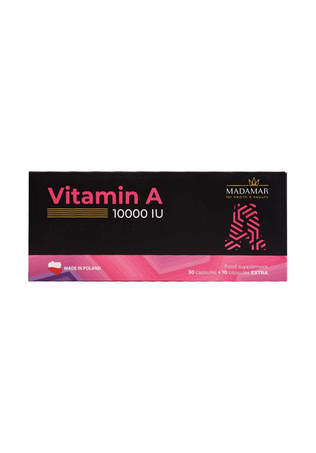 Madamar Vitamin A 10000 iu 30capsule +10capsules Extra  مكمل غذائي