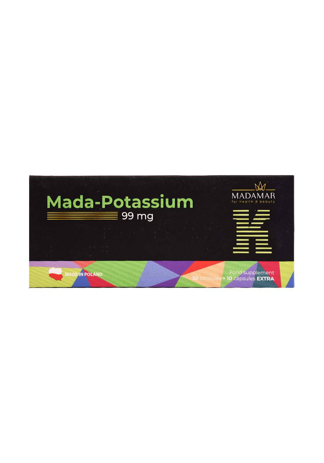 Madamar Mada-Potassium 99 mg   30capsule +10capsules Extra مكمل غذائي