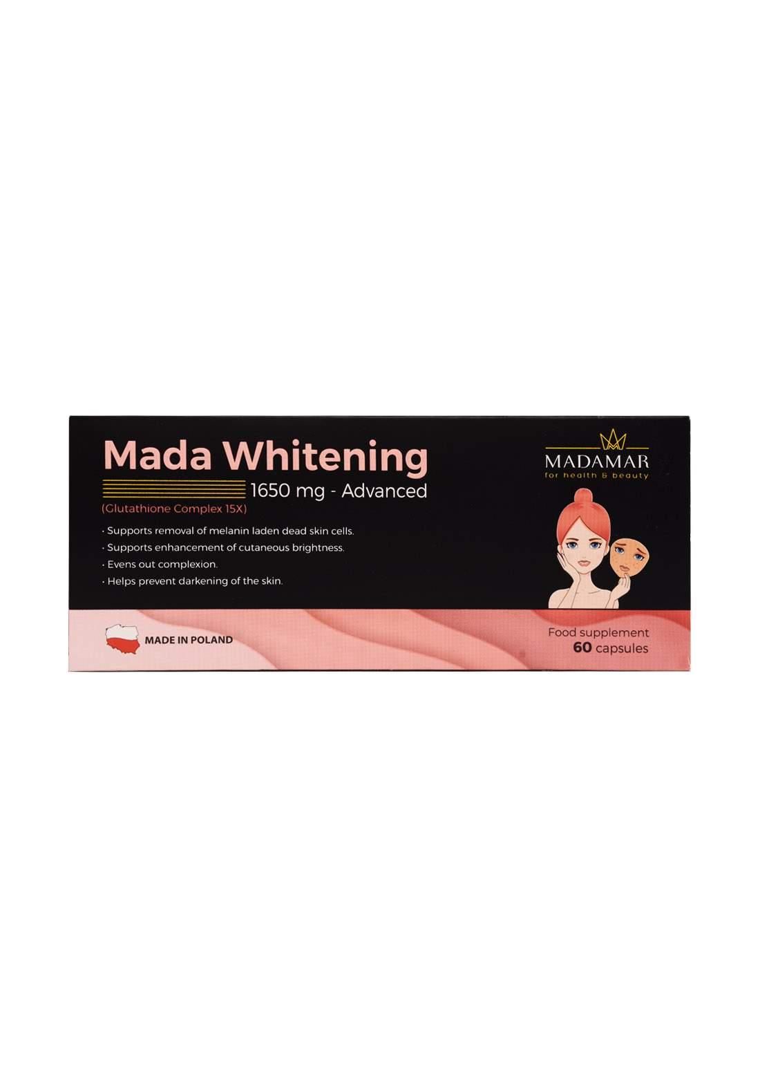 Madamar Mada Whitening 1650mg -Advanced 60 capsules  مكمل غذائي