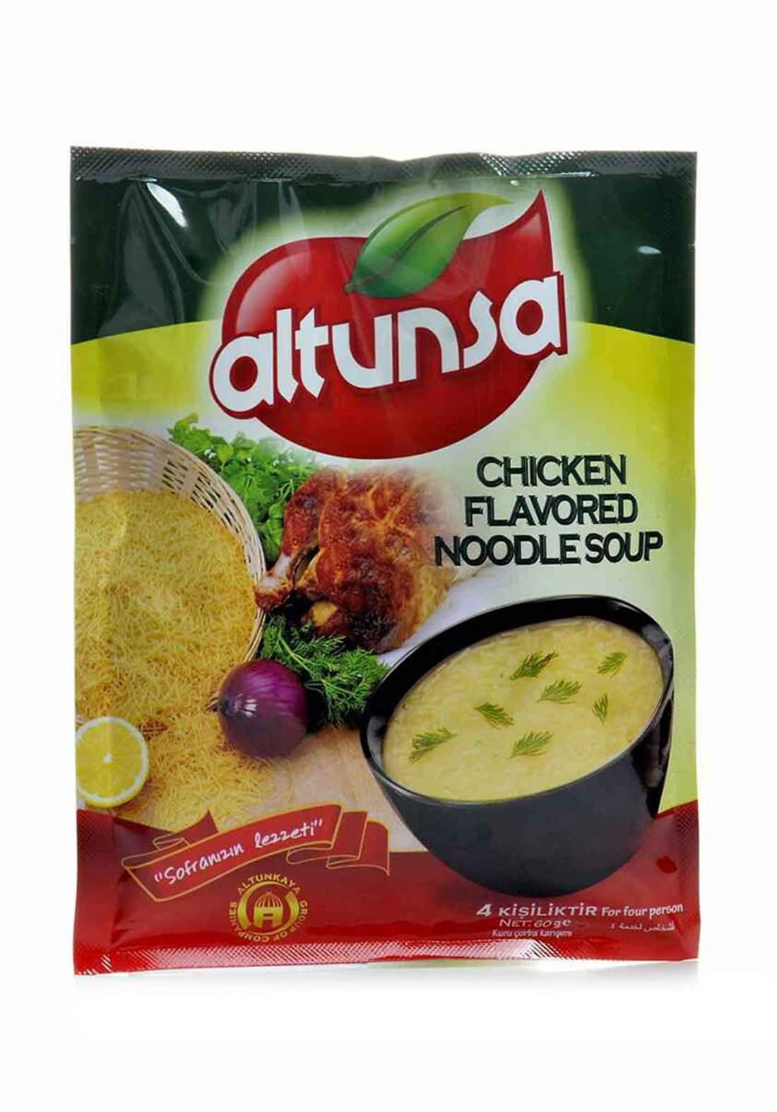 Altunsa ( 1302810105 ) Chicken Flavored Noodle Soup 60 g مسحوق شوربة جاهزة بالشعرية