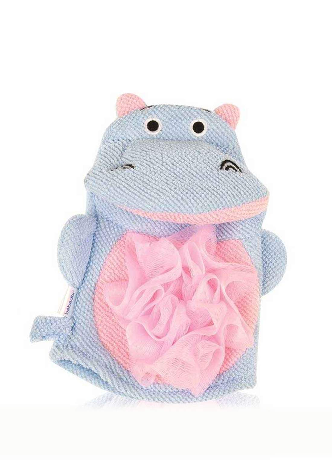 Bebedor 582 Fiber Bath Puppet Blue Hippo ليفة استحمام للاطفال