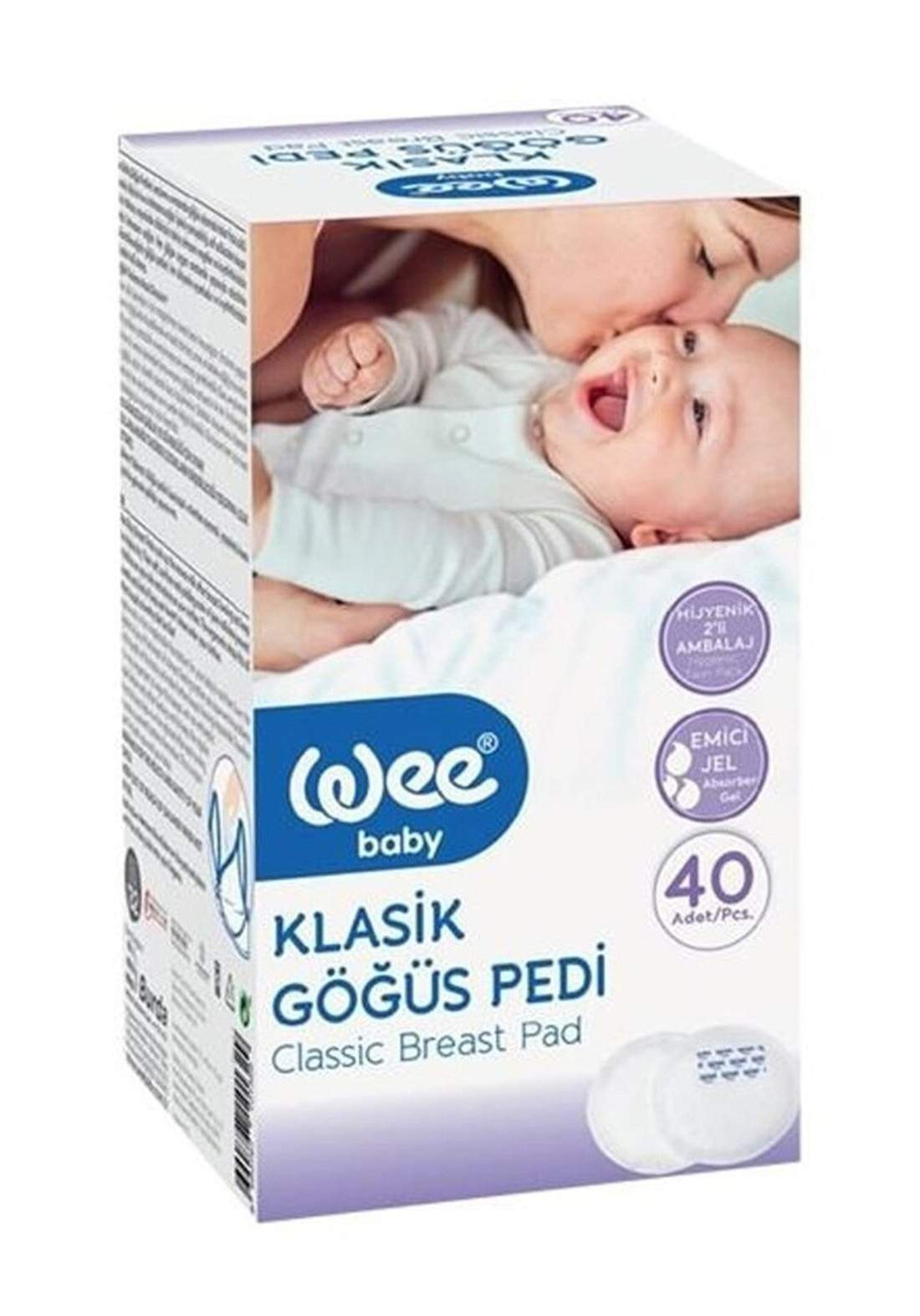 Wee Baby 132 Classic Breast Pad 40 Pieces وسائد للصدر