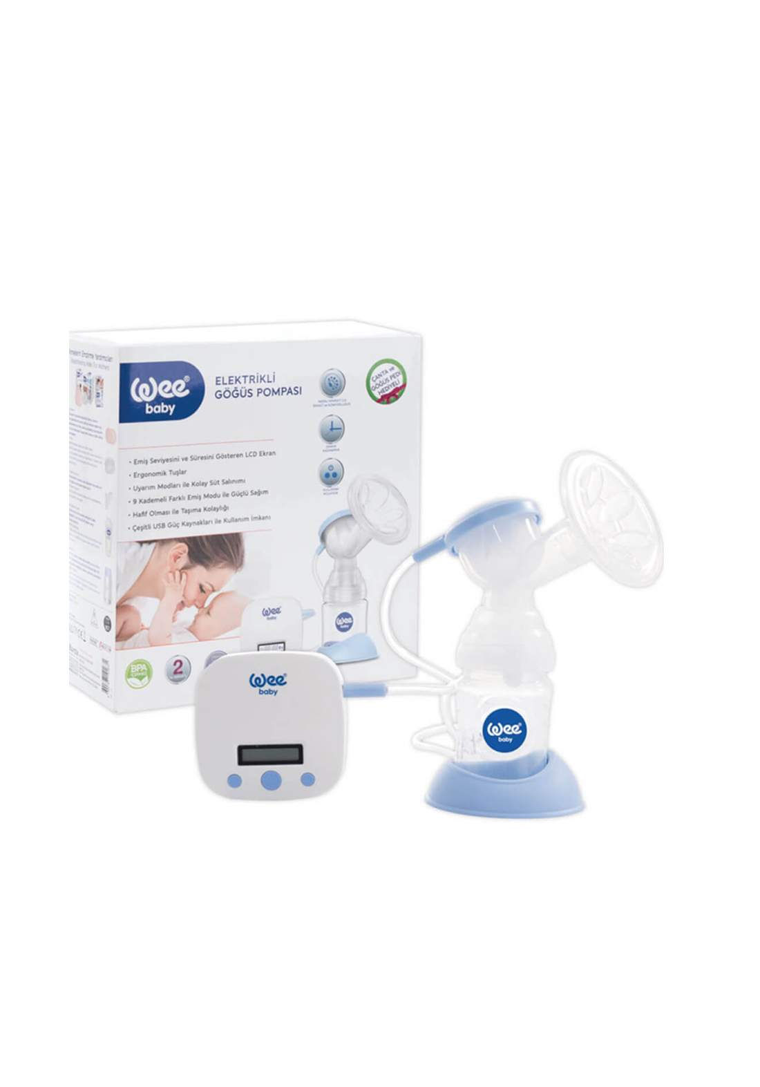 Wee Baby 167 Electronic Breast Pump شافطة حليب الالكترونية
