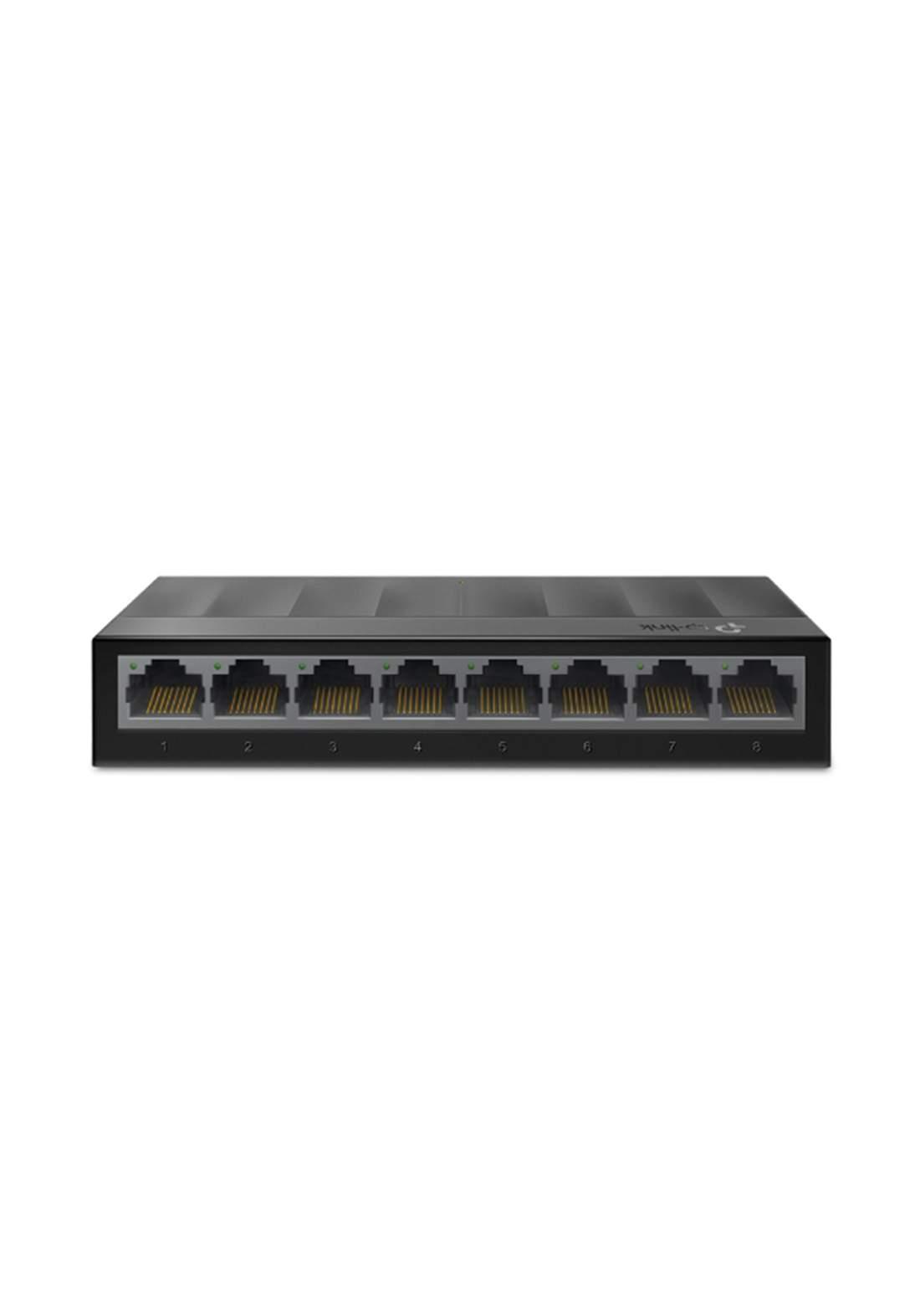 Tp-Link  LS1008G 8-Port 10/100/1000Mbps Desktop Switch - Black
