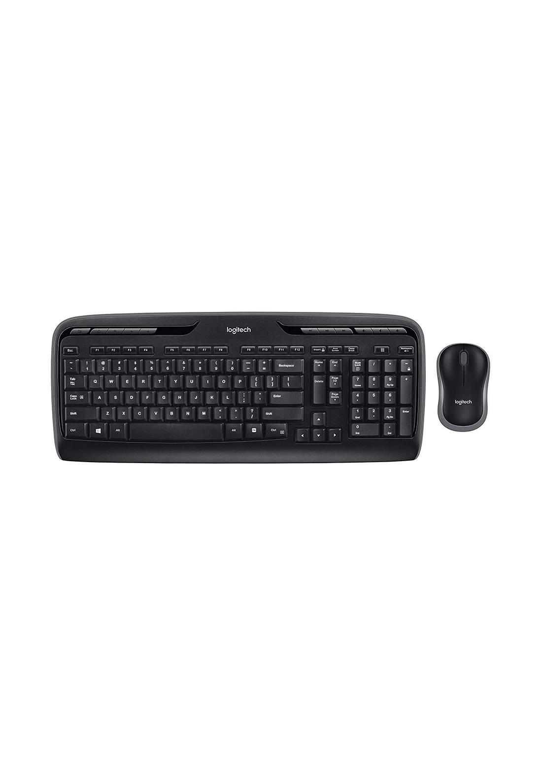 Logitech Wireless Combo MK330 Keyboard and mouse set -Black  لوحة مفاتيح وماوس