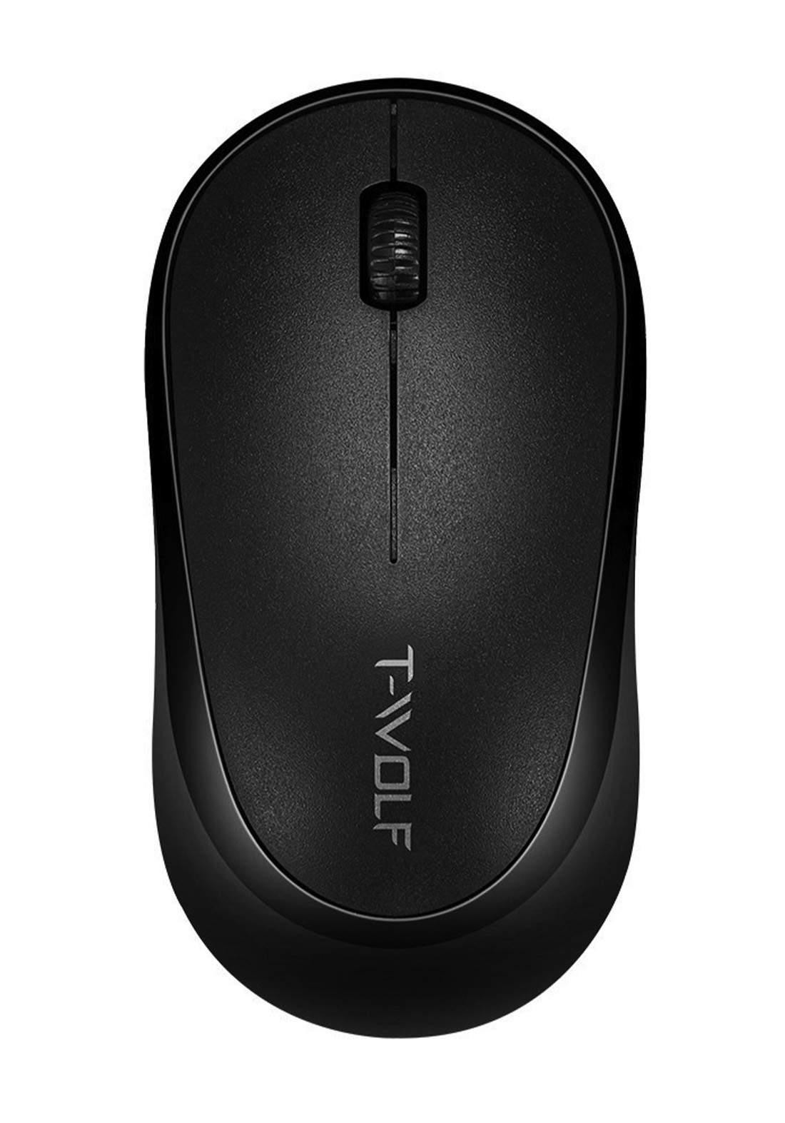 T-WOLF Q18  Gaming Wireless For Desktop, Laptop, TV Smart Box - Black  فأرة