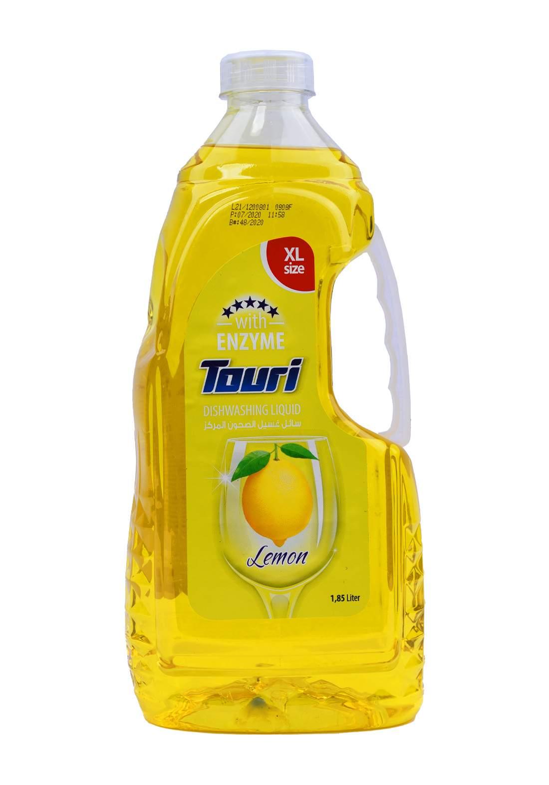 Touri Dishwashing Liquid Lemon 1800 ml سائل غسيل الصحون برائحة الليمون