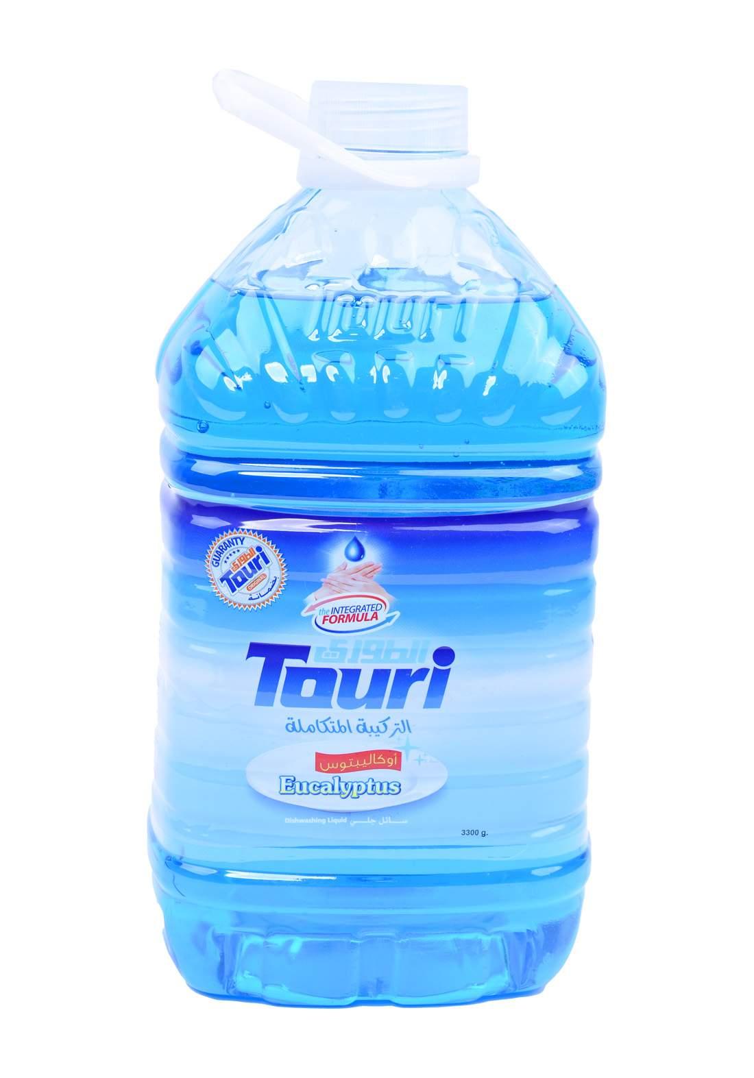 Touri Dishwashing Liquid Eucalyptus 4000 ml سائل غسيل الصحون برائحة الاوكالبتوز