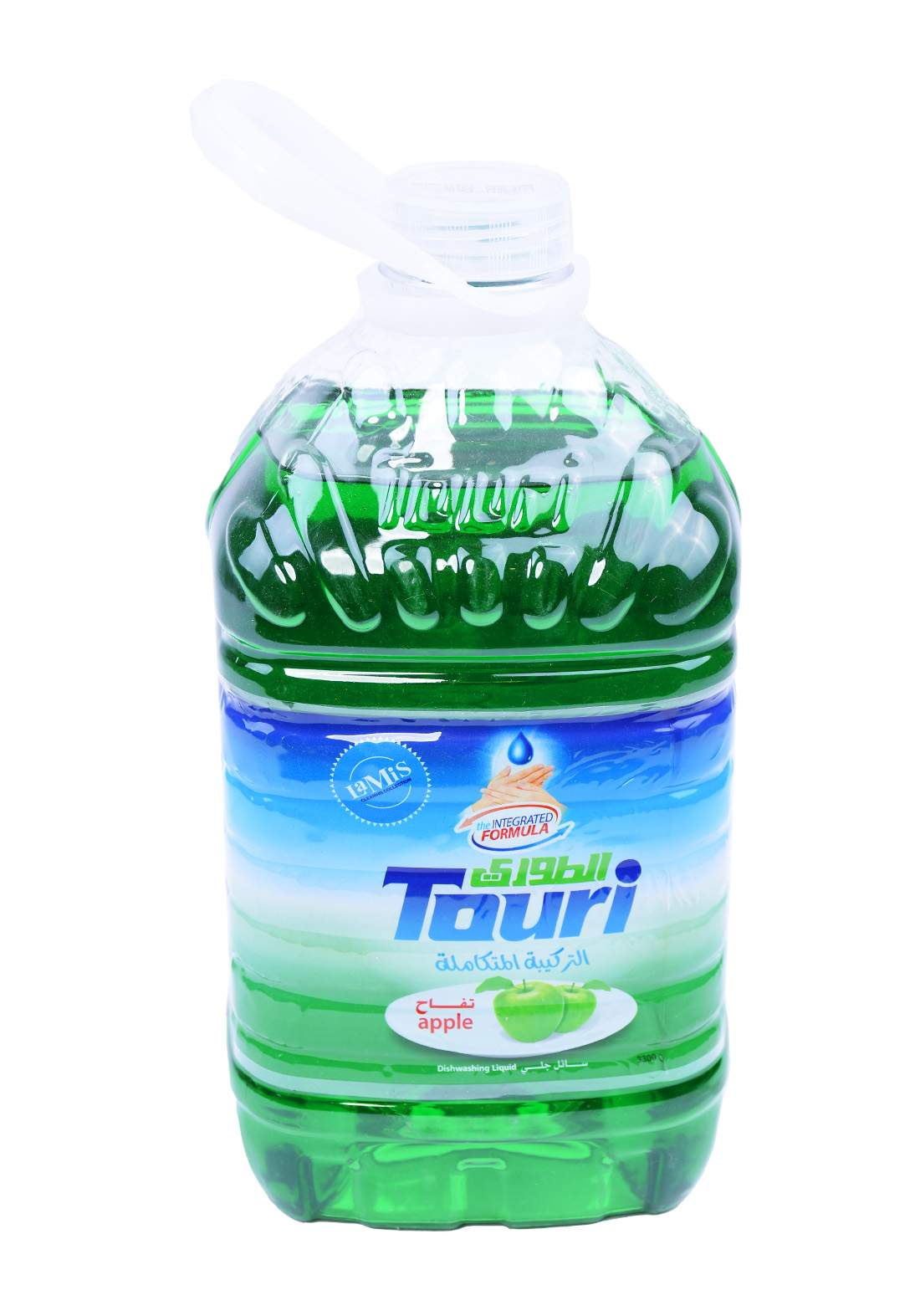 Touri Dishwashing Liquid Apple 4000 ml سائل غسيل الصحون برائحة التفاح