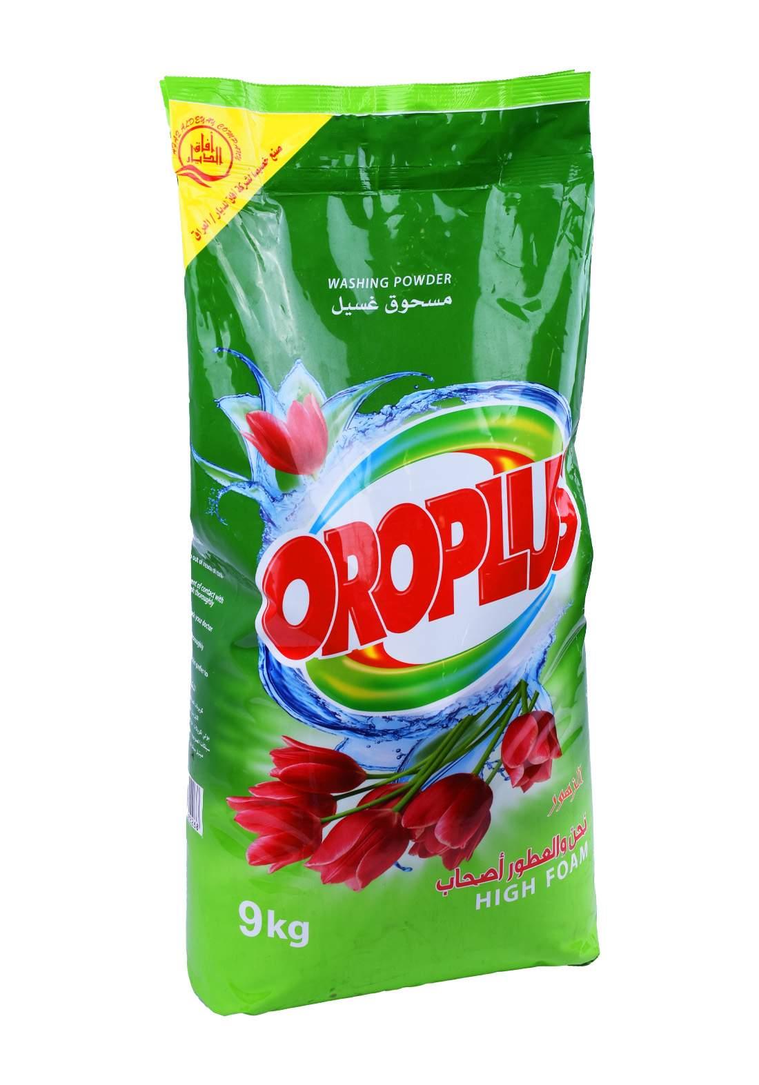 Oroplus Washing Powder Flowers  9 Kg    مسحوق غسيل الملابس للغسالات العادية