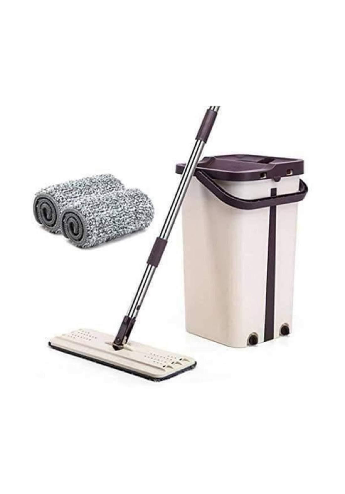طقم ممسحة ودلو للتنظيف متعدد الاستخدام