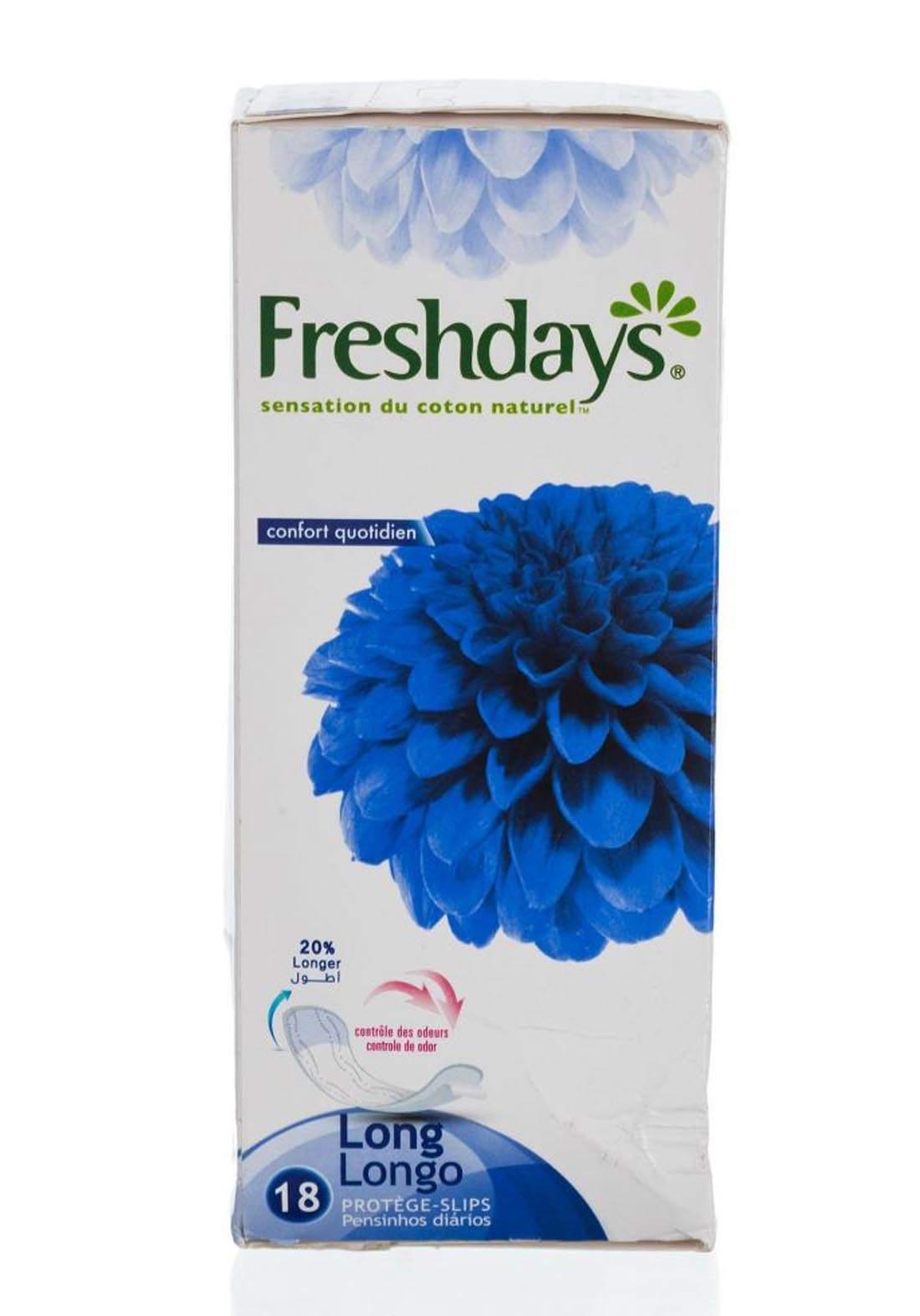 Freshdays Natural Cotton Feel 18 Pies فوط صحية