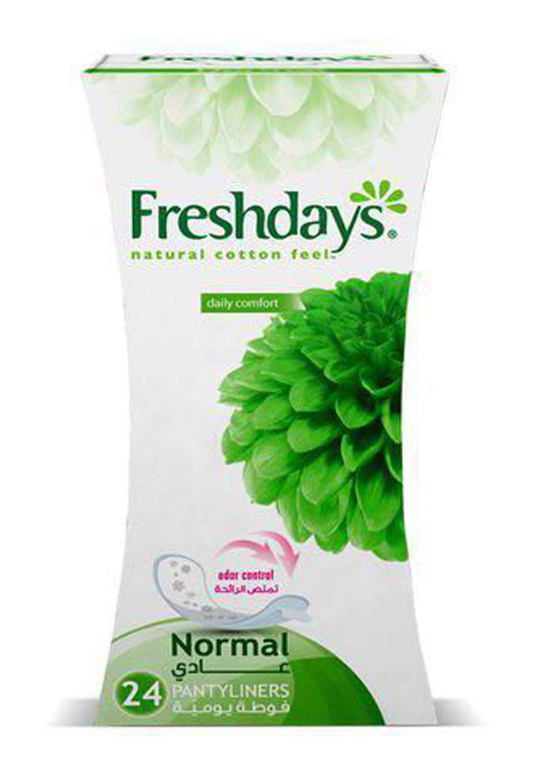 Freshdays Natural Cotton Feel Normal Pantyliners 24 Pies فوط صحية