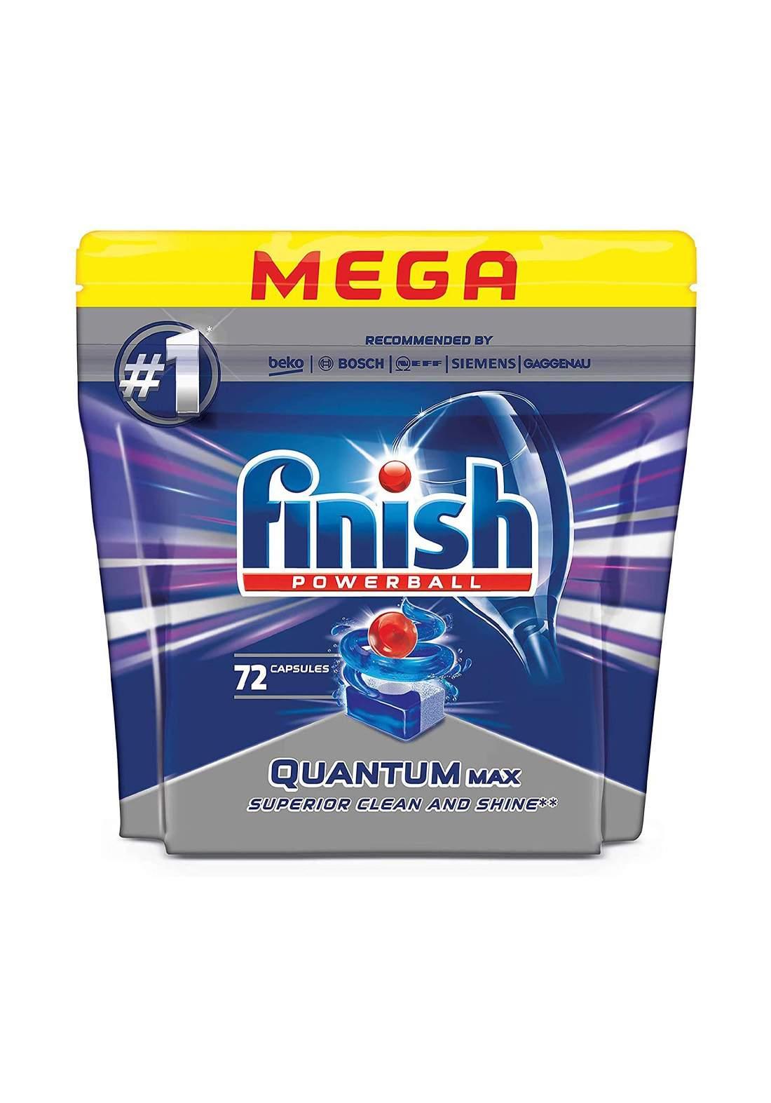Finish Quantum Dishwasher Tablets Economy Pack 72 Tabs أقراص غسالات الصحون