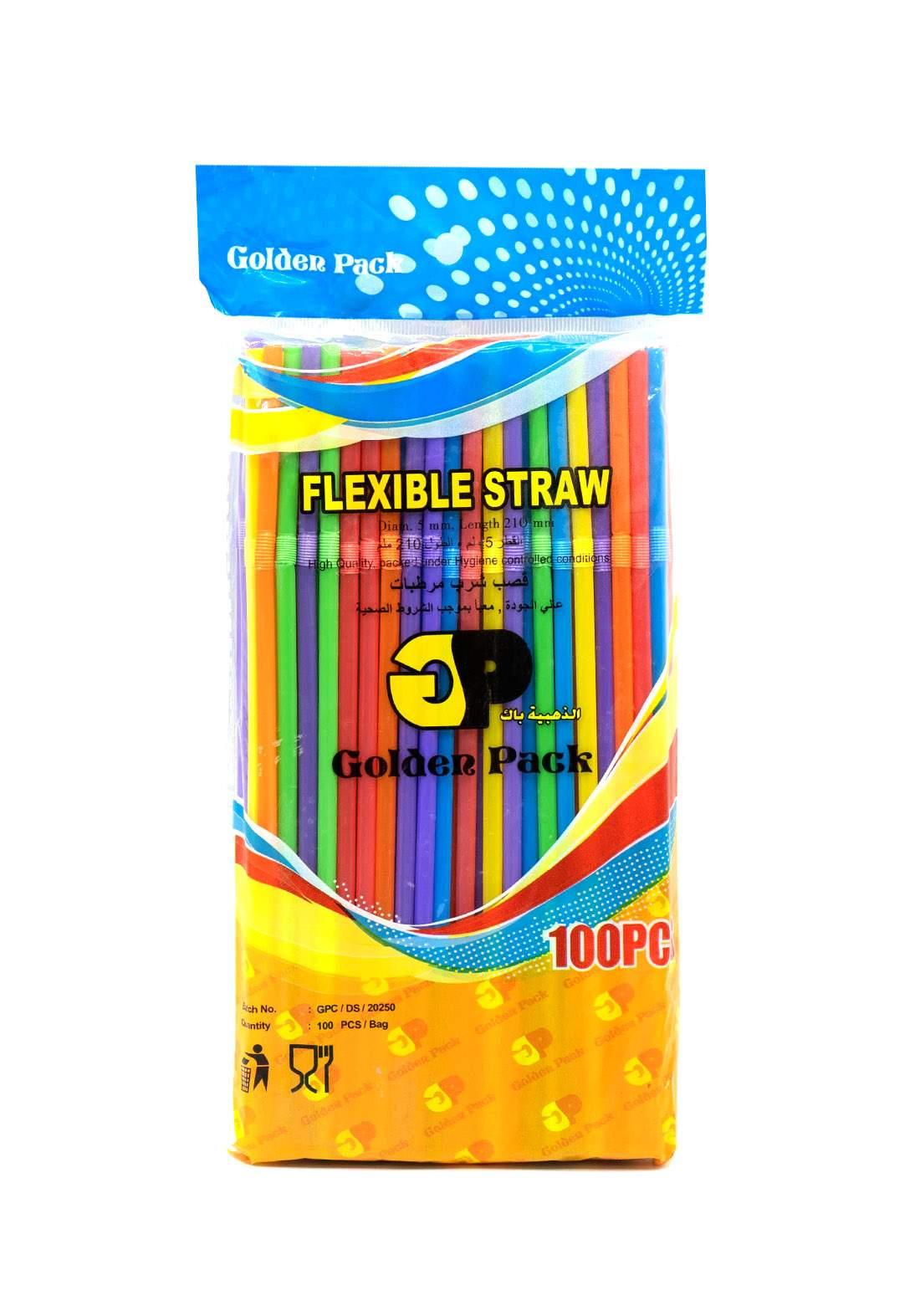Colorful Stubble Set 100 Pcs rقصبات ملونة
