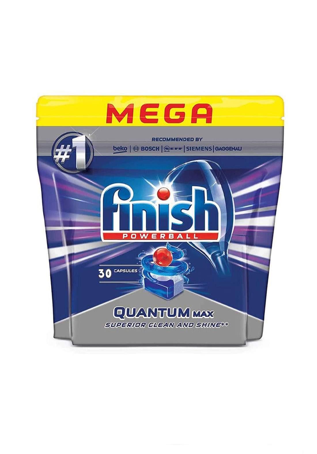 Finish Quantum Dishwasher Tablets Economy Pack 30 Tabs  أقراص غسالات الصحون