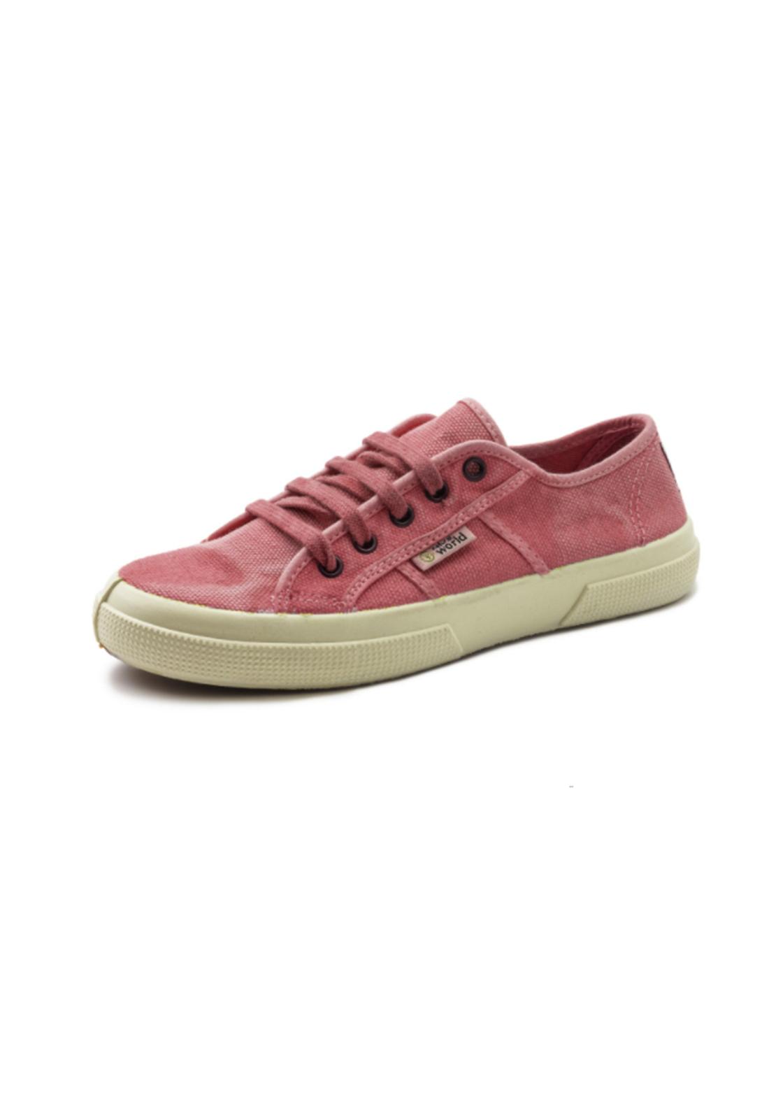 World Natural Eco حذاء كاجول وردي اللون من
