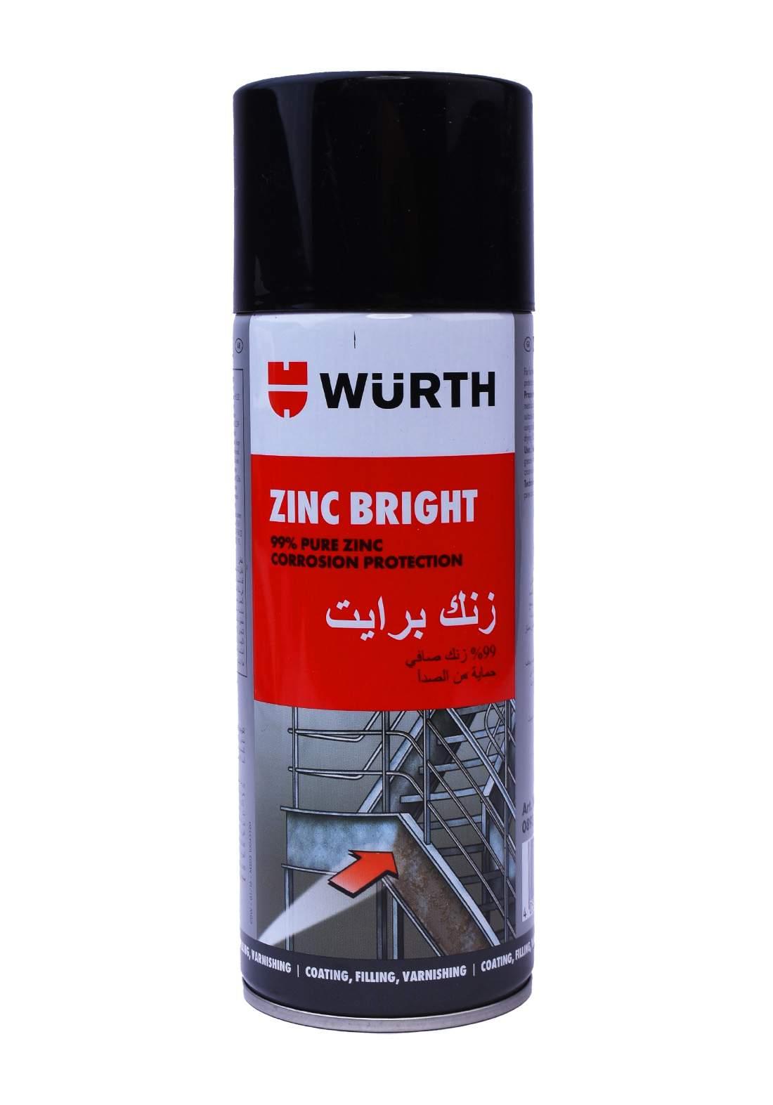 Wurth 893114112 Light zinc spray 400 ml طلاء كالفنايز